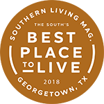 Voted best place to live as a subdivision in Georgetown, TX by Southern Living Magazine
