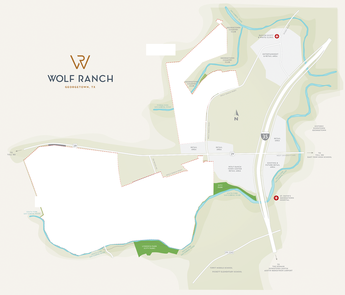 Wolf Ranch Site Plan Map.