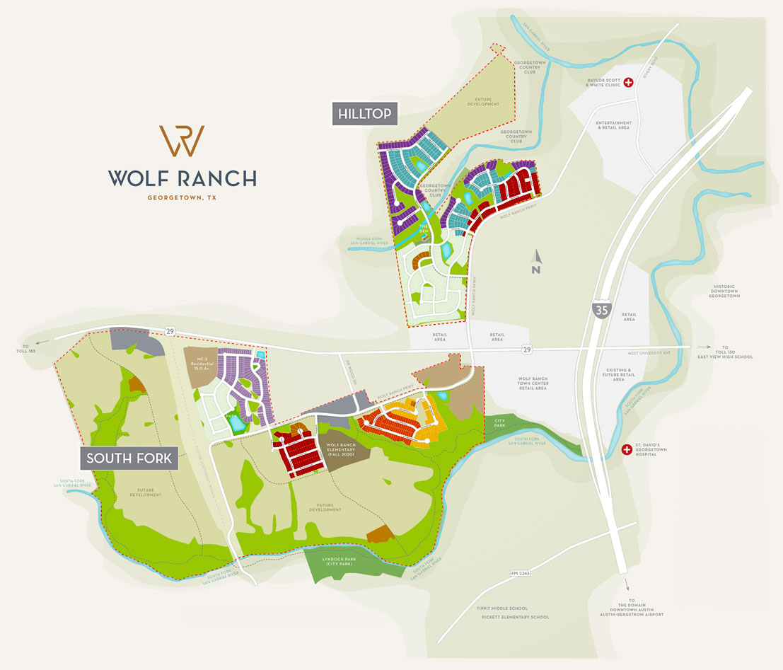 Wolf Ranch Site Plan Map (Mobile)